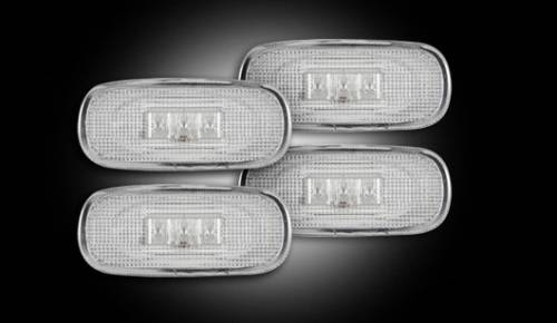 Lighting - Mirror & Marker Lights - Recon Truck Accessories - 2003-2009 Dodge Ram 3500 Dually Fender Lights - Clear
