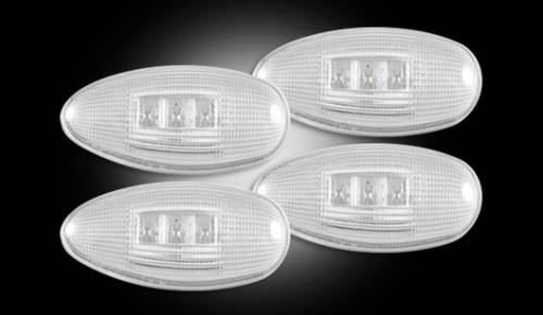 Lighting - Mirror & Marker Lights - Recon Truck Accessories - 1999-2013 Chevrolet Silverado 3500 Hd, GMC Sierra 3500 HD Dually Fender Lights - Clear