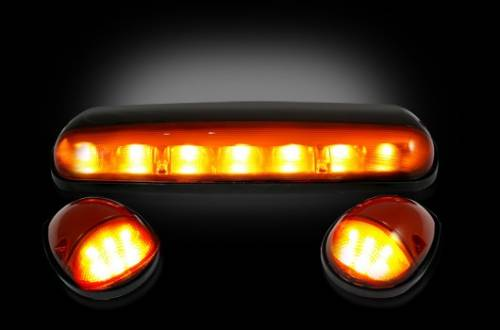 Lighting - Cab Roof Lights - Recon Truck Accessories - 264155AM | Cab Roof Lights | Amber Lens