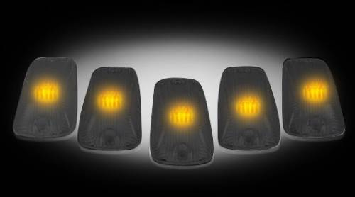 Recon Truck Accessories - 1988-2002 Chevrolet, GMC 2500 HD, 3500 HD Cab Roof Lights - Smoked Lens