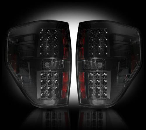 Lighting - LED Taillights - Recon Truck Accessories - 264168BK | LED Tail lights | Smoked Lens