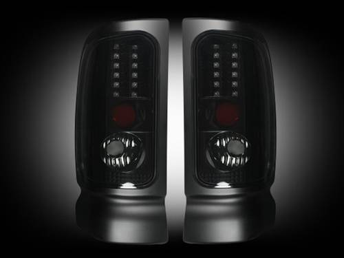 Lighting - LED Taillights - Recon Truck Accessories - 264170BK | LED Tail Lights | Smoked