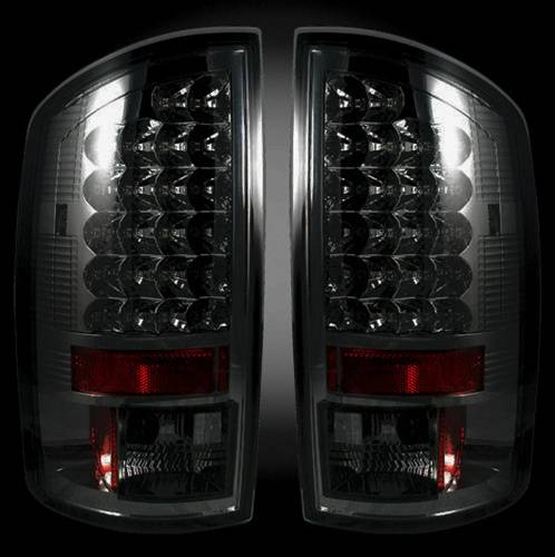 Lighting - LED Taillights - Recon Truck Accessories - 2002-2006 Dodge Ram 1500, 2003-2006 Ram 2500, 3500 LED Tail lights | Smoked