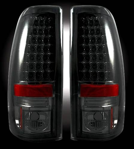 Lighting - LED Taillights - Recon Truck Accessories - 264173BK | LED Tail lights | Smoked