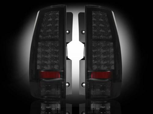 Lighting - LED Taillights - Recon Truck Accessories - 264174BK | LED Tail lights | Smoked