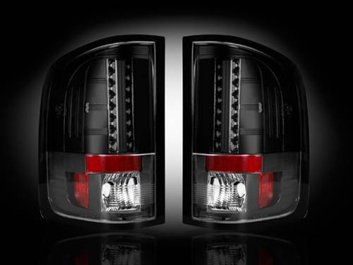 Lighting - LED Taillights - Recon Truck Accessories - 2007-2013 Chevrolet Silverado SRW & DRW, 2007-2013 GMC Sierra DRW Only LED Tail lights | Smoked