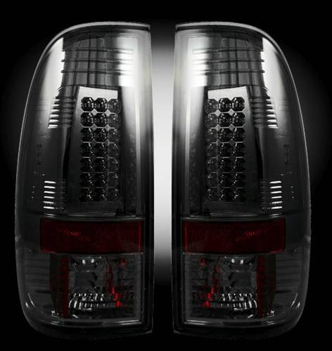 Lighting - LED Taillights - Recon Truck Accessories - 2008-2016 Ford Super Duty LED Tail lights | Smoked