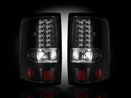 Lighting - LED Taillights - Recon Truck Accessories - 264178BK | LED Tail lights | Smoked Lens