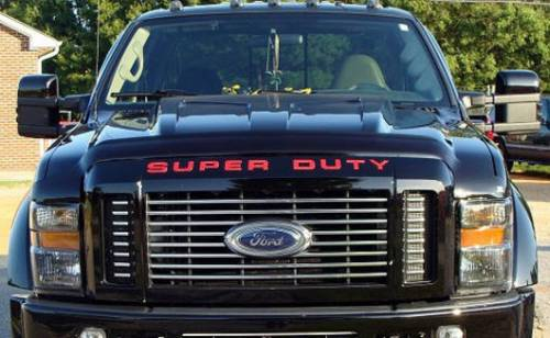 Recon Truck Accessories - 264181RD | Super Duty Raised Letter Inserts - Red - Image 3