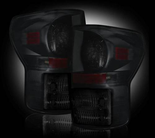 Lighting - LED Taillights - Recon Truck Accessories - 2007-2013 Toyota Tundra LED Tail lights | Smoked