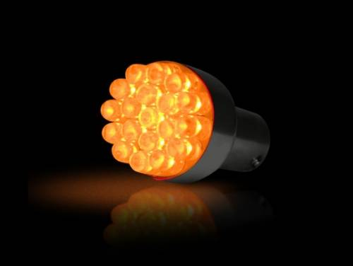 Lighting - Replacement Bulbs - Recon Truck Accessories - 1157 (19 LEDs on each bulb) Unidirectional LED Bulb - Amber