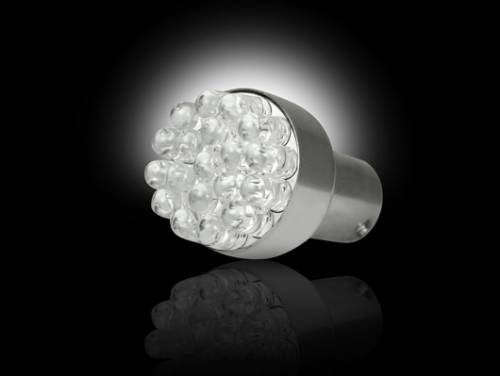 Recon Truck Accessories - 1157 (19 LEDs on each bulb) Unidirectional LED Bulb - Amber - Image 2