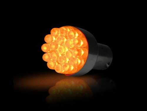 Lighting - Replacement Bulbs - Recon Truck Accessories - 1156 (19 LEDs on each bulb) Unidirectional LED Bulb - Amber