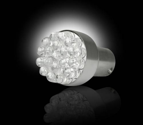 Recon Truck Accessories - 1156 (19 LEDs on each bulb) Unidirectional LED Bulb - Amber - Image 2