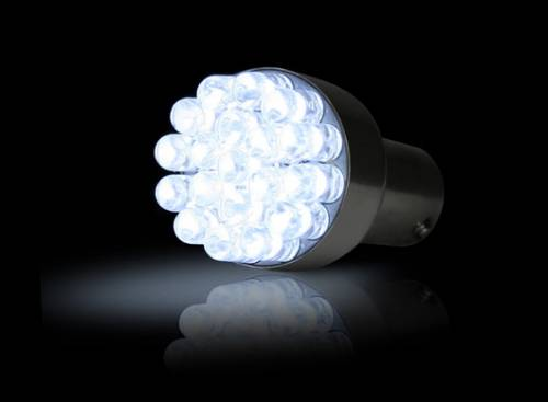 Recon Truck Accessories - 1156 (19 LEDs on each bulb) Unidirectional LED Bulb - White - Image 1