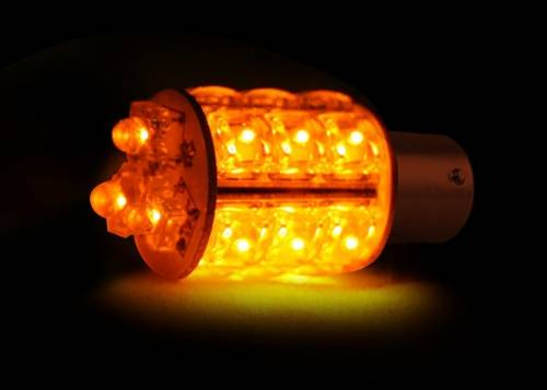 Lighting - Replacement Bulbs - Recon Truck Accessories - 1157 (18 LEDs on each bulb) 360 Degree LED Bulb - Amber
