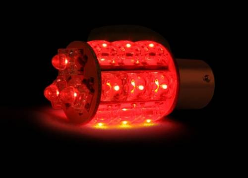 Recon Truck Accessories - 1157 (18 LEDs on each bulb) 360 Degree LED Bulb - Red