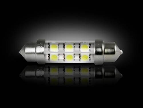 Interior - Interior Lights - Recon Truck Accessories - 264211WH | High Power 1 Watt 578 (6 LED) White LED