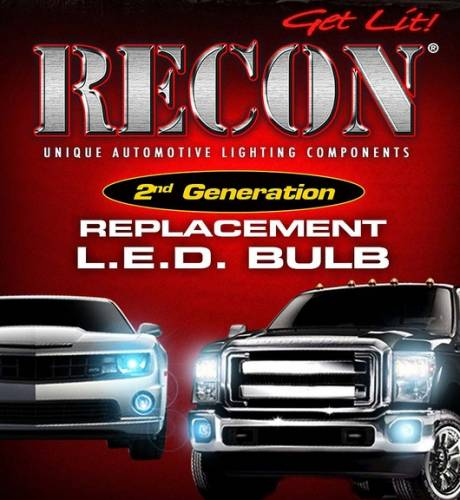 Interior - Interior Lights - Recon Truck Accessories - 264216WH| High Power 2 Watt Unidirectional S.M.D.White LED 194 / 168 T10