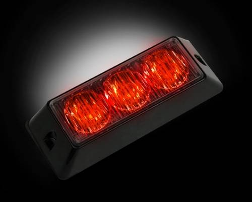 Recon Truck Accessories - 3-LED 12 Function 3-Watt High-Intensity Strobe Light Module w Black Base - Red Color - Image 1