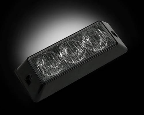 Recon Truck Accessories - 3-LED 12 Function 3-Watt High-Intensity Strobe Light Module w Black Base - Red Color - Image 2
