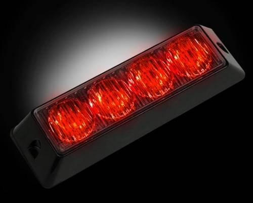Recon Truck Accessories - 4-LED 19 Function 4-Watt High-Intensity Strobe Light Module w Black Base - Red Color - Image 1