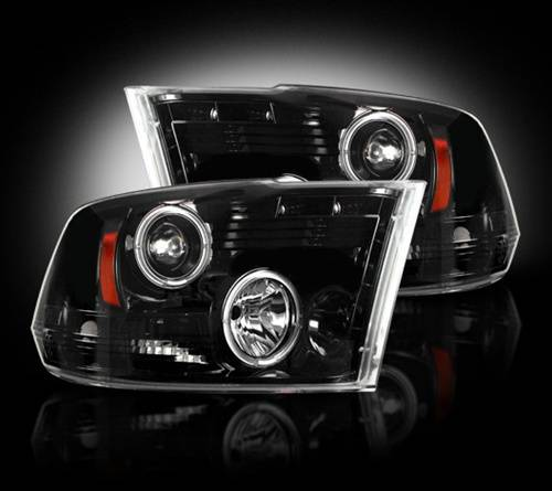 Lighting - Headlights - Recon Truck Accessories - 264270BK | Projector Headlights | Smoked / Black