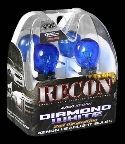 Lighting - Driving & Running Lights - Recon Truck Accessories - 4114 12V 55W = 85W (4,600 KELVIN) Chevrolet / GMC Daytime running light bulbds in Diamond White