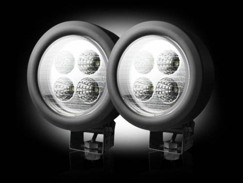 Lighting - Driving & Running Lights - Recon Truck Accessories - LED Round Driving Light Kit w Chrome Internal Housing