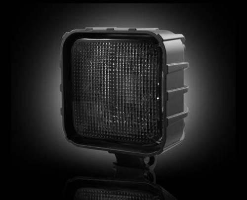 Lighting - Driving & Running Lights - Recon Truck Accessories - 30-Watt LED Square Driving Light Kit w Black Chrome Internal Housing