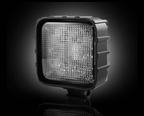 Lighting - Driving & Running Lights - Recon Truck Accessories - 30-Watt LED Square Driving Light Kit w Chrome Internal Housing