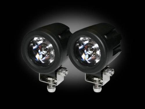 Lighting - Driving & Running Lights - Recon Truck Accessories - 10-Watt 3000 Lumen LED Driving / Reverse Light Kit - Clear Round