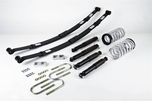 "Belltech Suspension - 1982-2004 Chevrolet S10/S15 Pickup, 4 cyl. (Ext Cab / Std Cab) 2"" or 3"" F/4"" R drop W/Nitro Drop II Shocks"