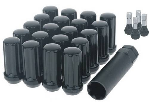 SOTA Offroad - 14 X 1.5 Black Spline Lug Kit - 24 Piece