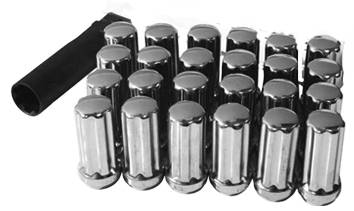 Wheels - SOTA Offroad - SOTA Offroad - 14 X 1.5 Chrome Spline Lug Kit - 24 Piece
