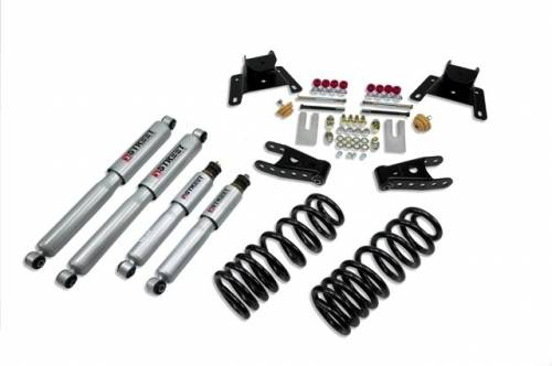 Suspension Components - Accessories - Belltech Suspension - 924SP | Ford 2/4 Inch Lowering Kit With Street Performance Shocks