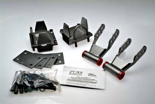 Suspension Components - Flip Kits, C-Notches - DJM Suspension - 3 Inch Rear Leaf Spring Lowering Flip Kit, Composite Leaf