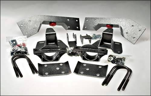 Suspension Components - Flip Kits, C-Notches - DJM Suspension - 5 Inch Rear Leaf Spring Lowering Flip Kit, Suburban Only