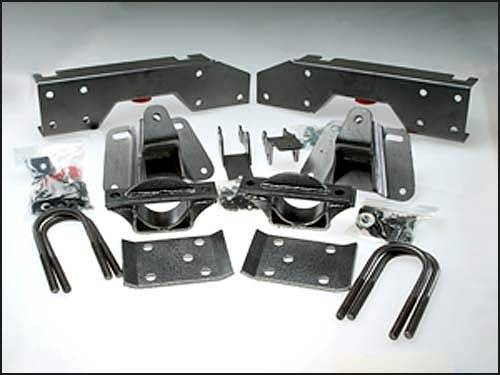 Suspension Components - Flip Kits, C-Notches - DJM Suspension - 4 Inch Rear Leaf Spring Lowering Flip Kit, 2 Door Only