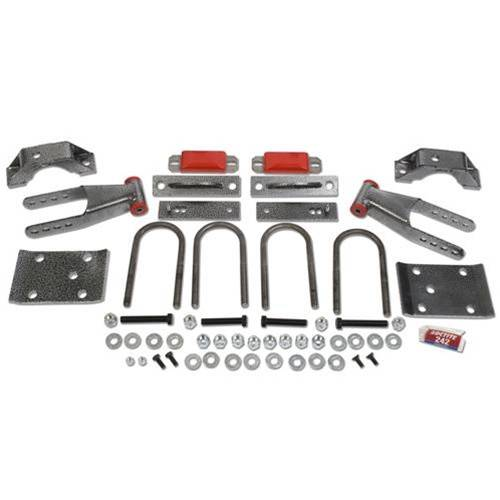 Suspension Components - Flip Kits, C-Notches - DJM Suspension - 4 Inch Rear Leaf Spring Lowering Flip Kit
