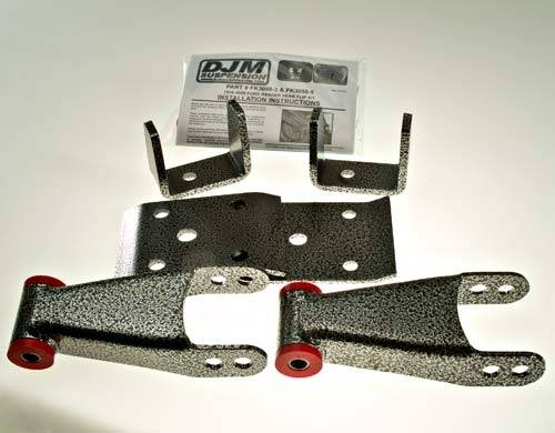 Suspension Components - Flip Kits, C-Notches - DJM Suspension - 3 Inch Rear leaf Spring Lowering Flip Kit