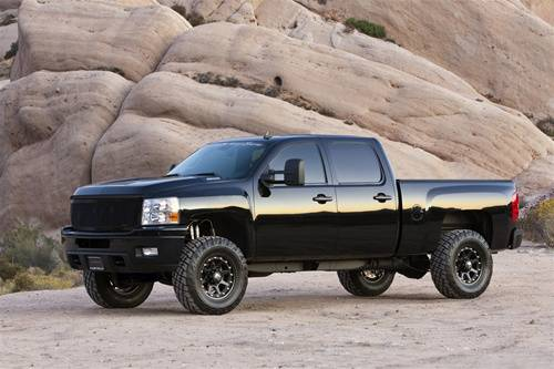 Suspension Components - Block & U Bolt Kits - Fabtech Suspension - 2011 4WD Chevy\GMC 2500HD 1 Inch Rear Block and U Bolt Kit
