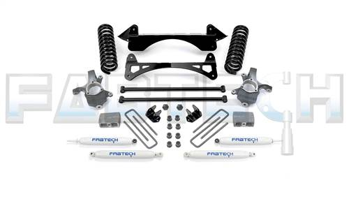 Fabtech Suspension - 1999-2006 GM C1500 P/U 2WD 3 Inch Spindle System with Performance Shocks