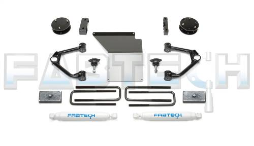 Fabtech Suspension - 2007-2013 GM K1500 4 Inch Budget System with Performance Shocks