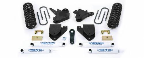 Fabtech Suspension - 1999-2000 Ford F250/350 2WD with 7.3L Diesel 6 Inch Basic System with Performance Shocks