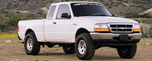 Fabtech Suspension - 1998-2008 Ford Ranger 2WD Coil Spring Front Susp with 4Cyl & 3.0L 2.5 Inch Performance System with Performance Shocks