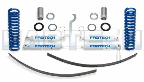 Fabtech Suspension - 1995-2004 Toyota Tacoma Pre Runner 6Lug Models 2/4WD 0-3.5 Inch Basic Adj Coilovers System with Performance Rear Shocks