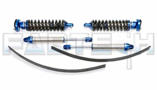 Fabtech Suspension - 1995-2004 Toyota Tacoma Pre Runner 6Lug Models 2/4WD 0-3.5 Inch Black 2.5 Dirt Logic Coilovers System with Dirt Logic Rear Shocks