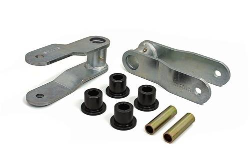 Suspension Components - Hanger Kits & Shackle Kits - Daystar Suspension - 1984-2001 Jeep XJ Cherokee 1 Inch Rear Non Greasable Lifting Shackles