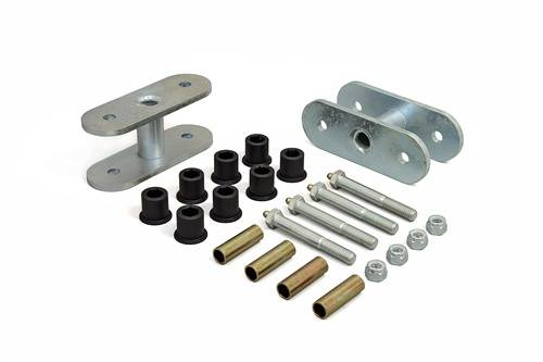 Suspension Components - Hanger Kits & Shackle Kits - Daystar Suspension - 1955-1975 Jeep CJ 1/2 Inch Front or Rear Greasable Lifting Shackles